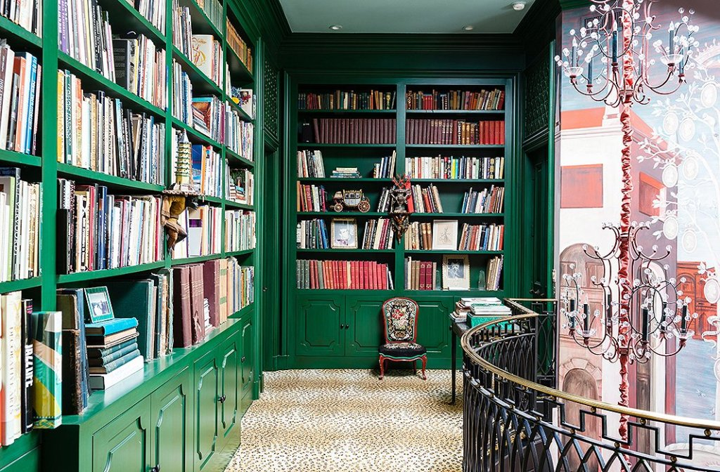 Old World Charm For This Green Home library