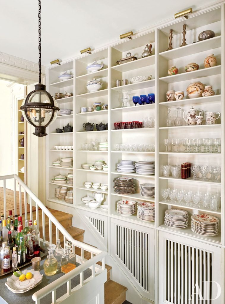 open shelving to display china