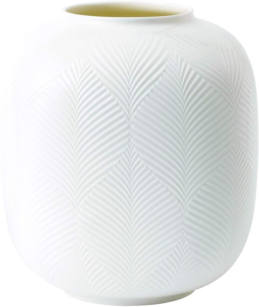 Wedgwood White Folia Vase Rounded