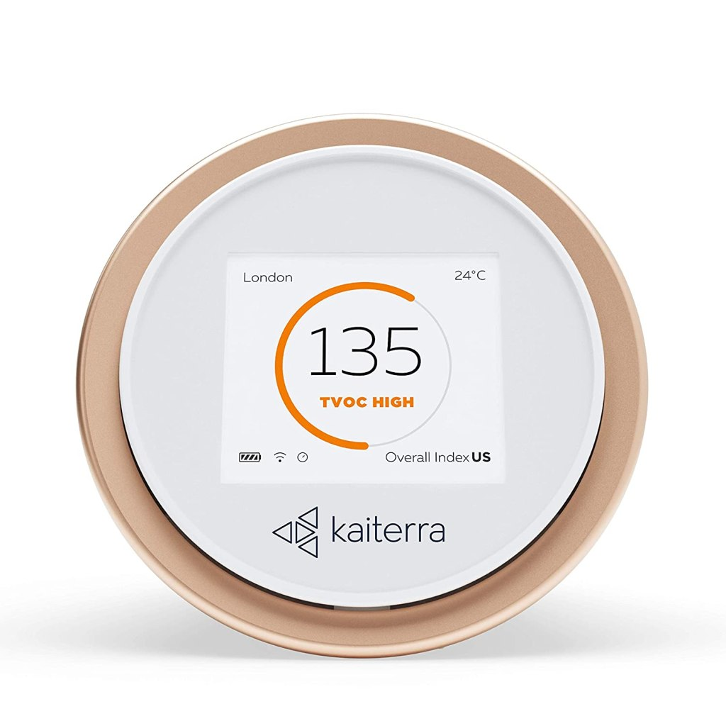 Kaiterra Laser Egg+ Chemical: Indoor Air Quality Monitor (Tracks PM2.5, Fine Dust, Chemicals (TVOCs), Temperature, and Humidity)