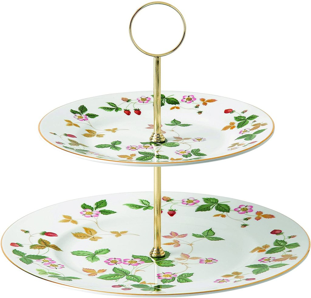 Wedgwood Wild Strawberry 2-Tier Cake Stand, Green