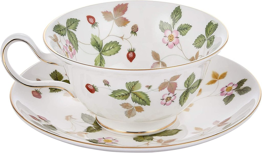 Wedgwood (Wild Strawberry Tea Cup and Saucer Peony [ Parallel Import Goods ]
