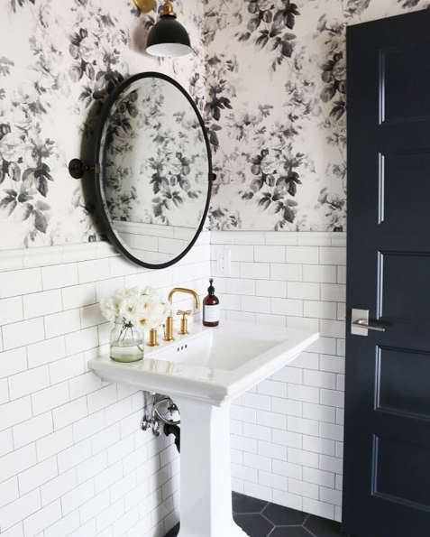 Wallpaper and Tiles on the Wall