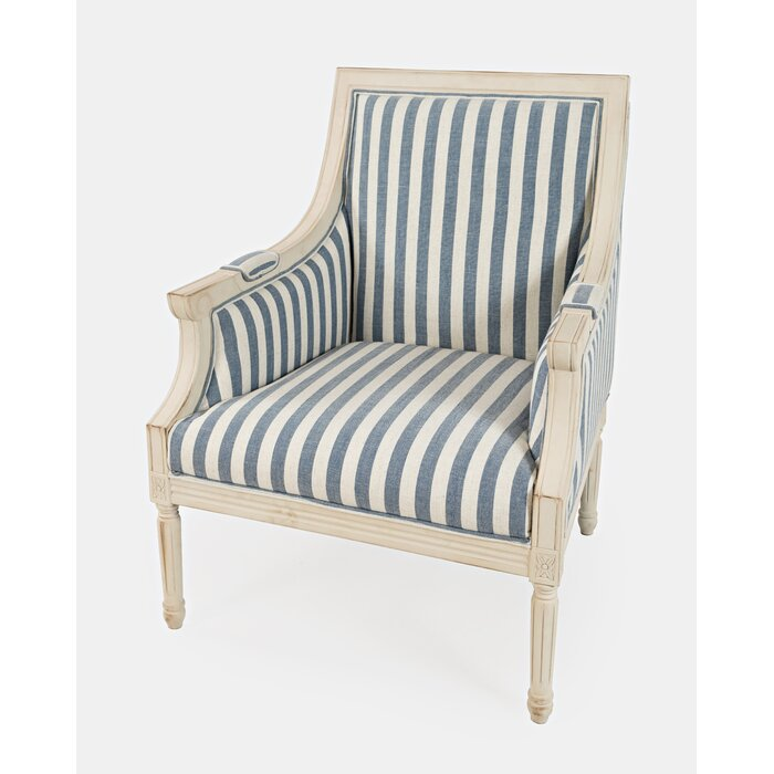 Alto french strioe Armchair with wood frame