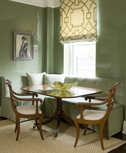 olive green on these lacquering walls