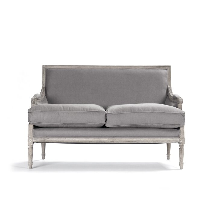 Bodil  French Wood-framed upholstered Loveseat
