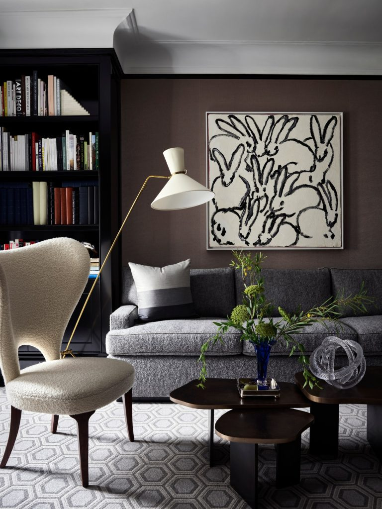 dark color palette of this reading room