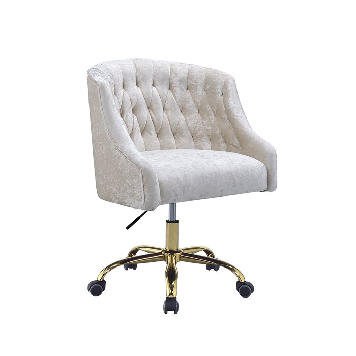 Geraci Task Chair cream color tufted