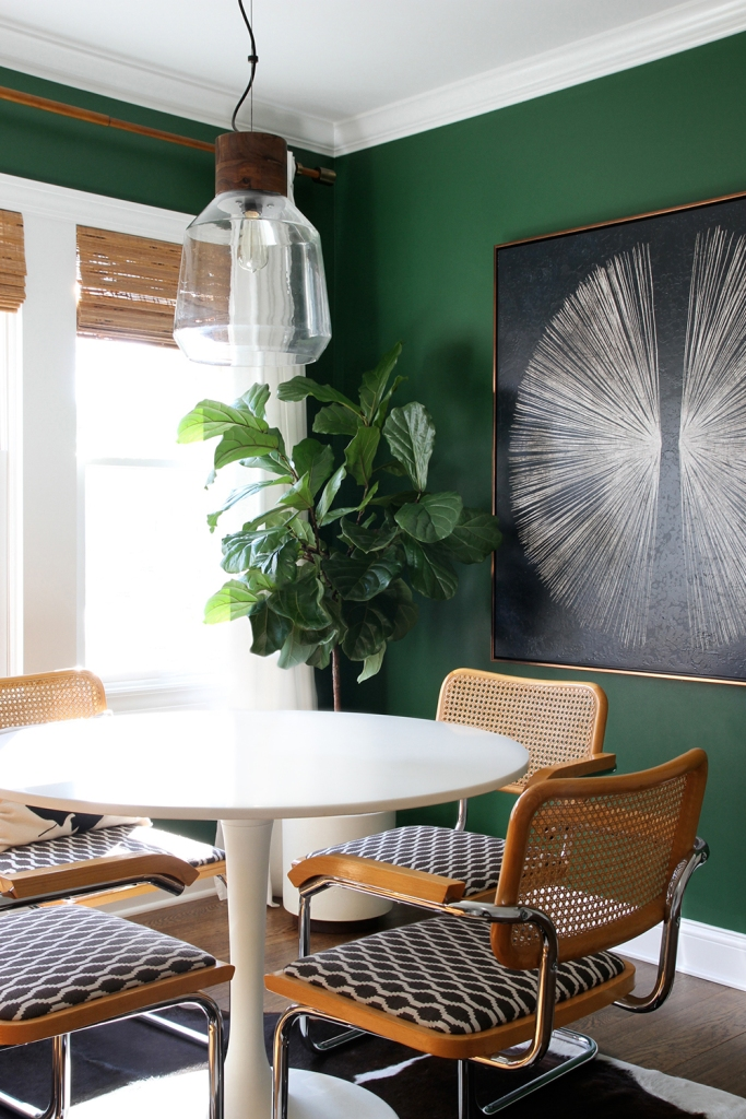 modern Breakfast Nook Featuring Color Of Green