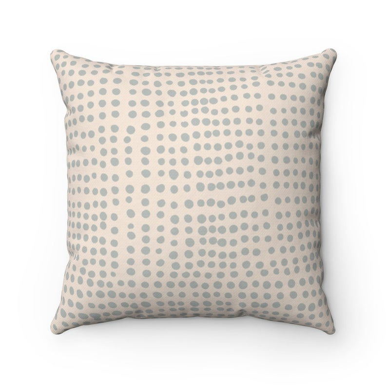Rizzo Indoor/Outdoor Pillow-dotted pattern-neutral tones