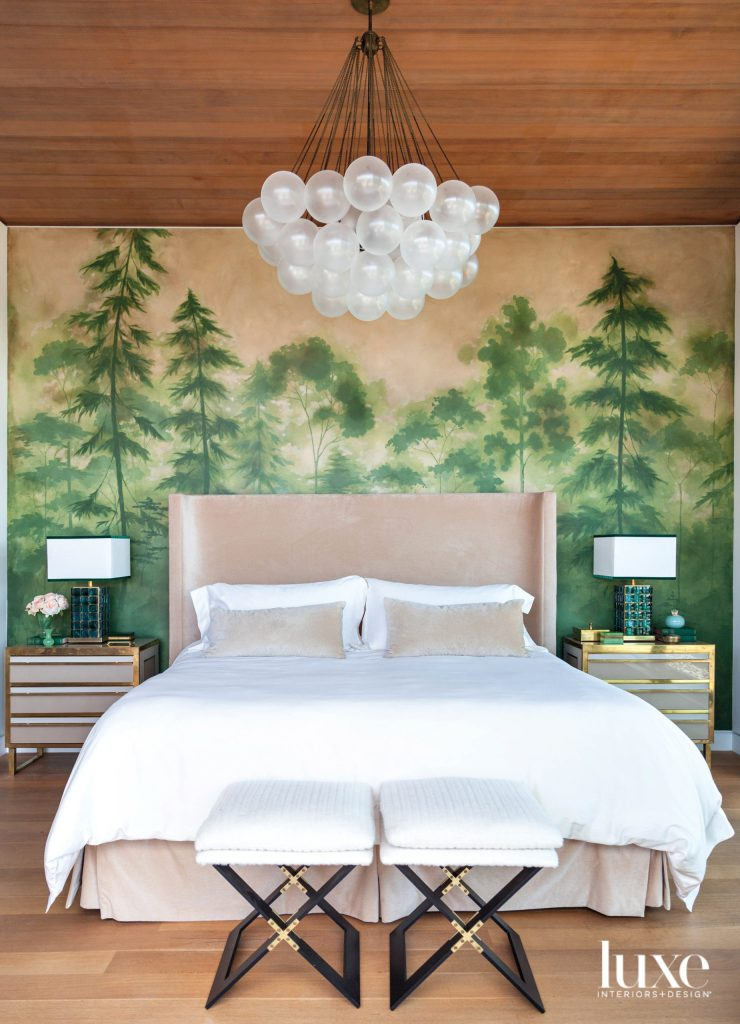 redwood mural on the wall