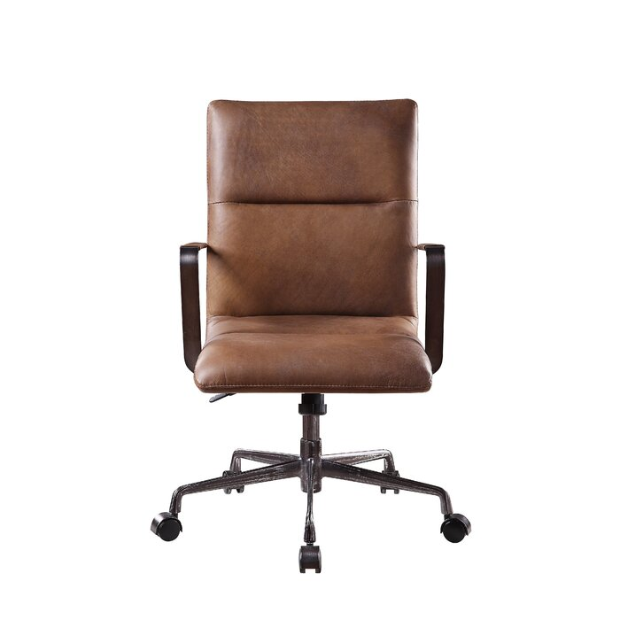 Onyx Genuine Leather Executive Chair brown leather
