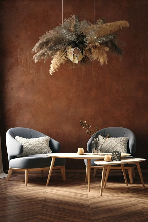 Chocalate brown creates a very warm, inviting and intimate atmosphere to carry on a conversation
