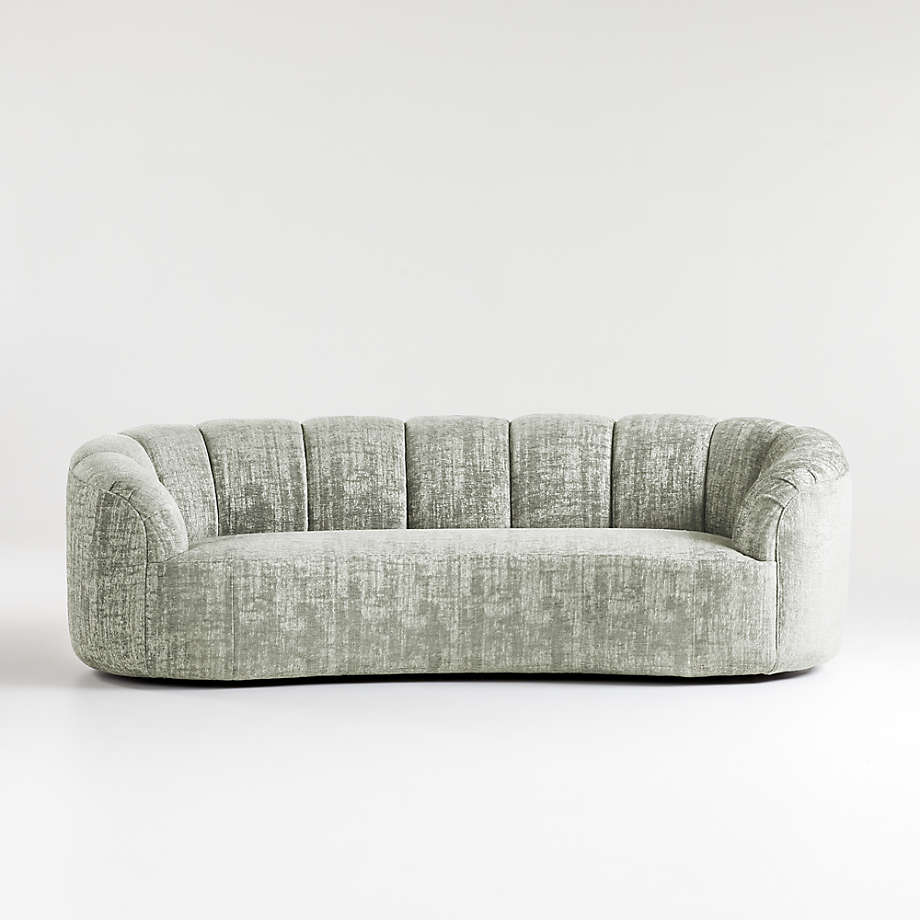 Rouelle Channel Tufted Sofa LIGHT GREY