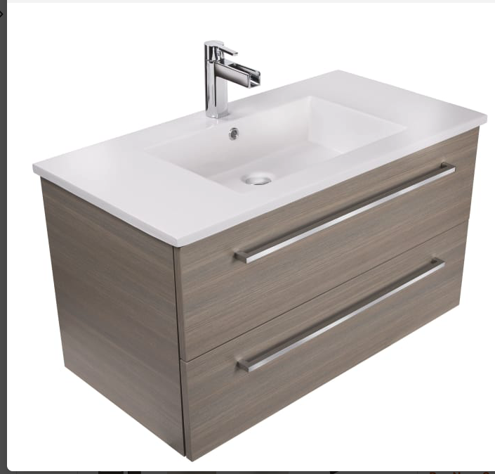 "Cutler Kitchen and Bath Silhouette 30"" Wall Mounted / Floating Single Vanity Set with Wood Cabinet and Cultured Marble Vanity Top"