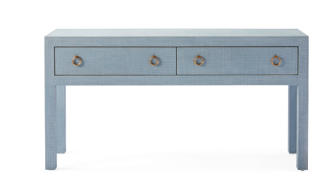 Driftway Console in powder blue fabric