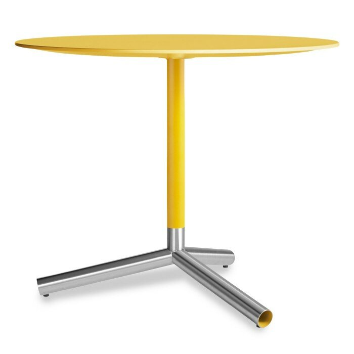 modern yellow side table