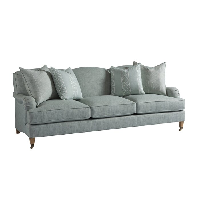 "Sydney 90.5"" Charles of London Arm Sofa in blue"