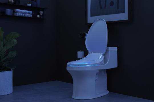 Shop C3 230 Elongated Bidet Toilet Seat with In-Line Heater and Touchscreen Remote Control