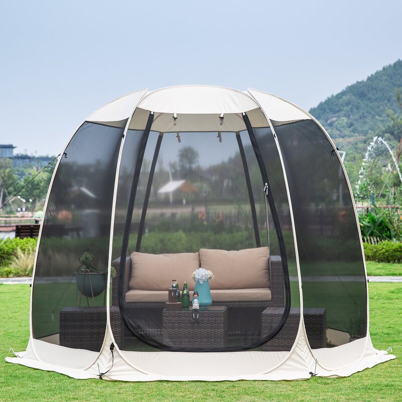 10 Ft. W x 10 Ft. D Fiberglass Pop-Up Gazebo
