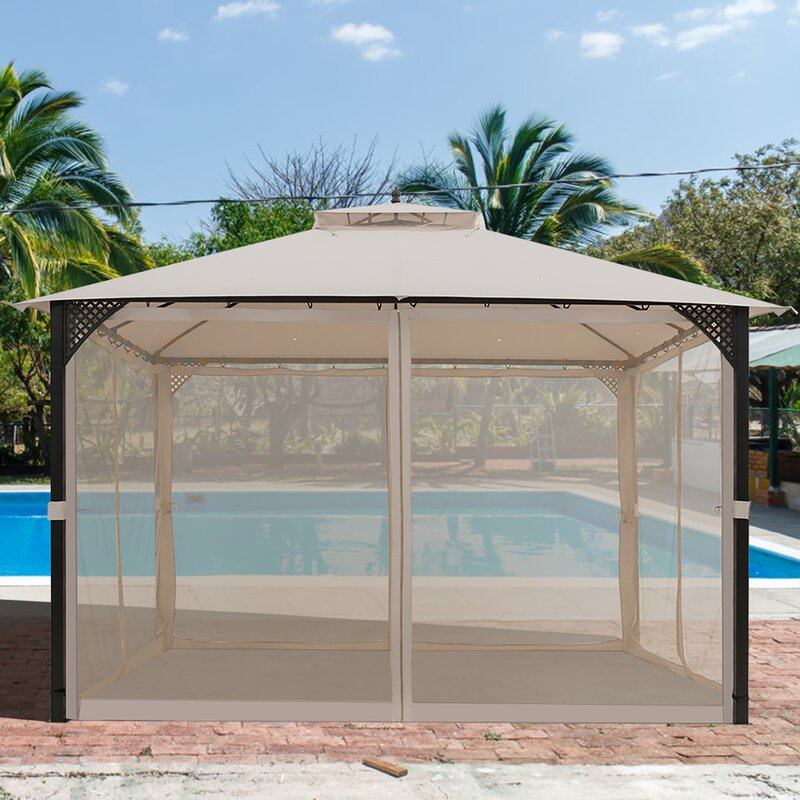 12 Ft. W x 10 Ft. D Steel Patio Gazebo