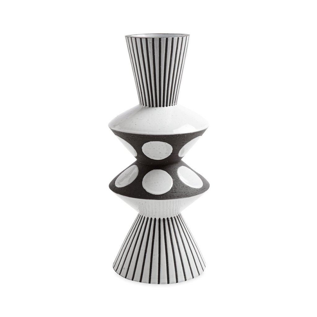 Black-and-White Palm Springs Bow Tie Vase