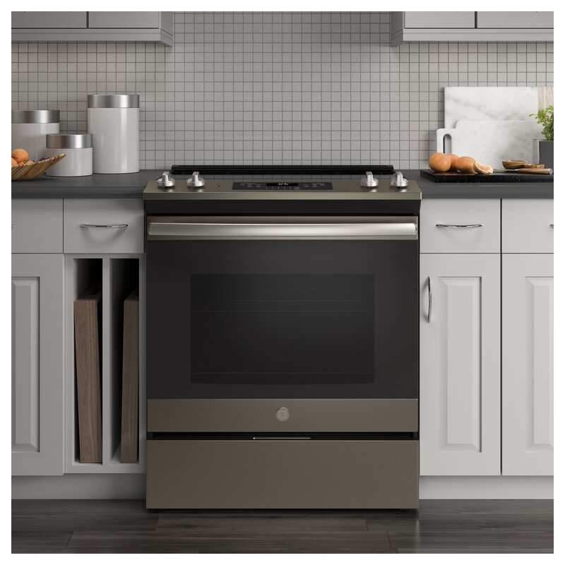 "GE 30"" 5.3 cu ft. Slide-in Electric Range"