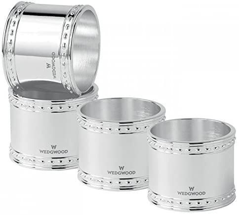Wedgwood Wish Napkin Rings Silverplate Set of 4 New in Box