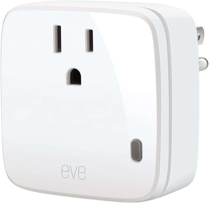 Eve Energy - Smart Plug & Power Meter with built-in schedules, switch a connected lamp or device on & off, voice control, no bridge necessary,...