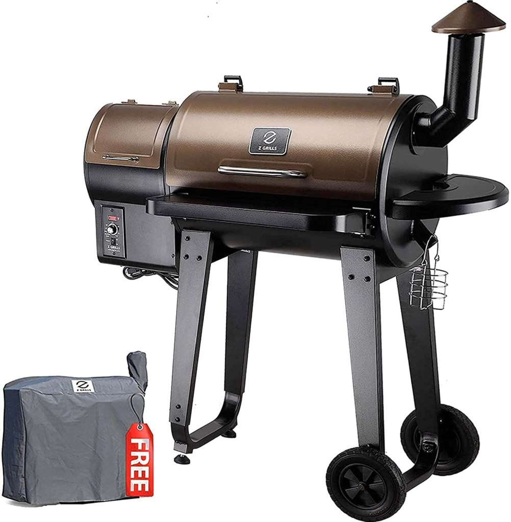 GRILLS ZPG-450A 2020 Upgrade Wood Pellet Grill & Smoker 6 in 1 BBQ Grill Auto Temperature Control, 450 Sq in Bronze