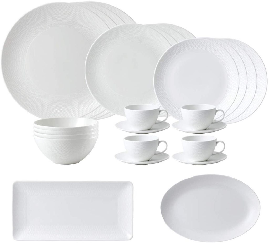 Wedgwood Gio Whiteware 26-Piece Set bone china