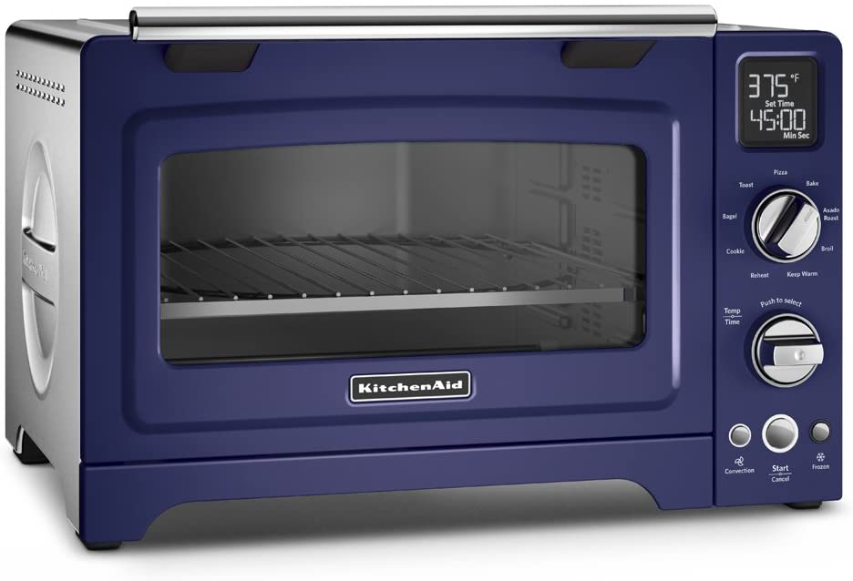 "KitchenAid KCO275BU Convection 1800W Digital Countertop Oven, 12"", Cobalt Blue"