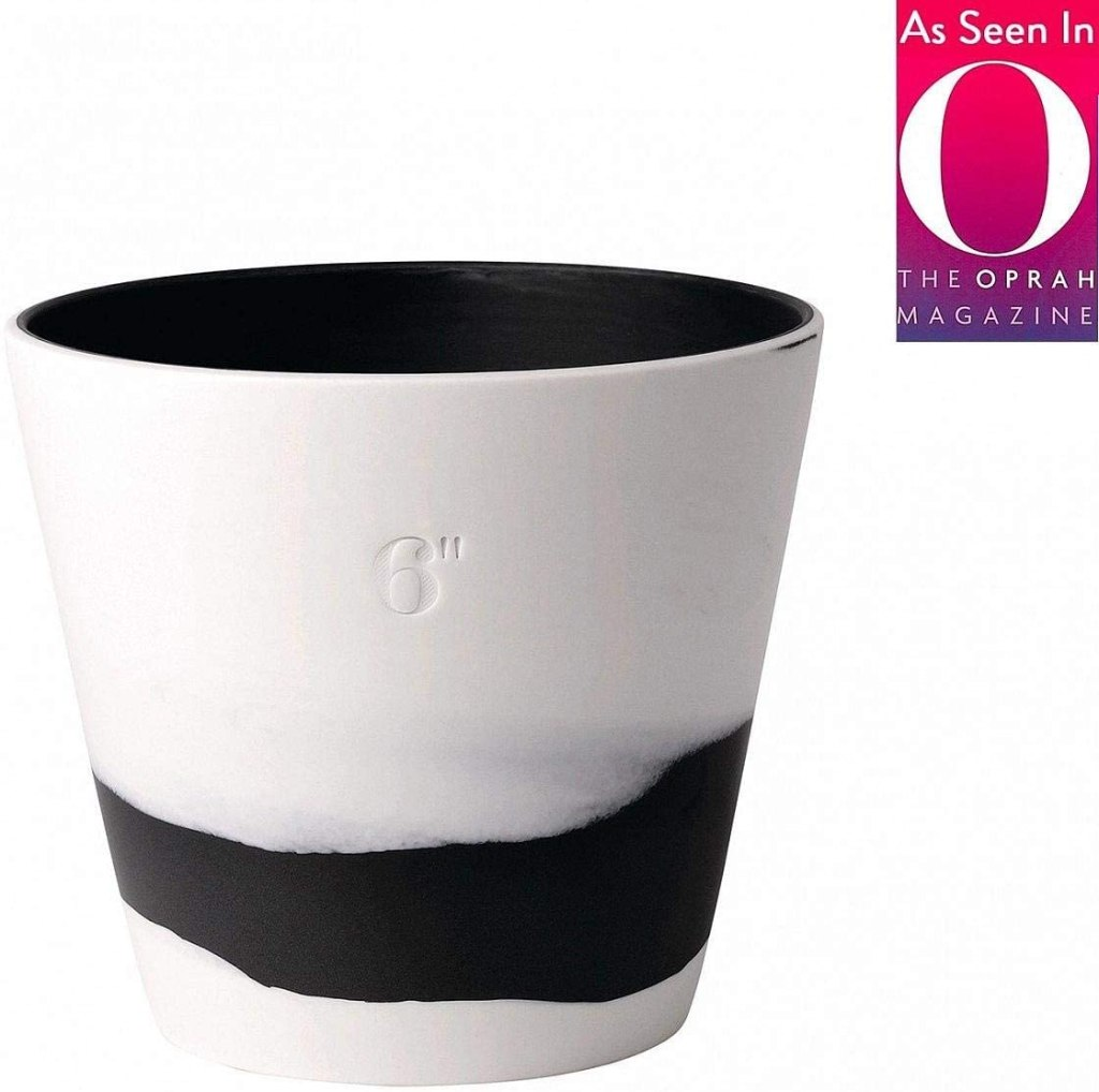 Burlington Planter Pot Blackwhite 6in by Wedgwood -