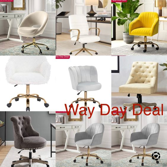 Chic And Glam Home Office Task Chairs On Sale