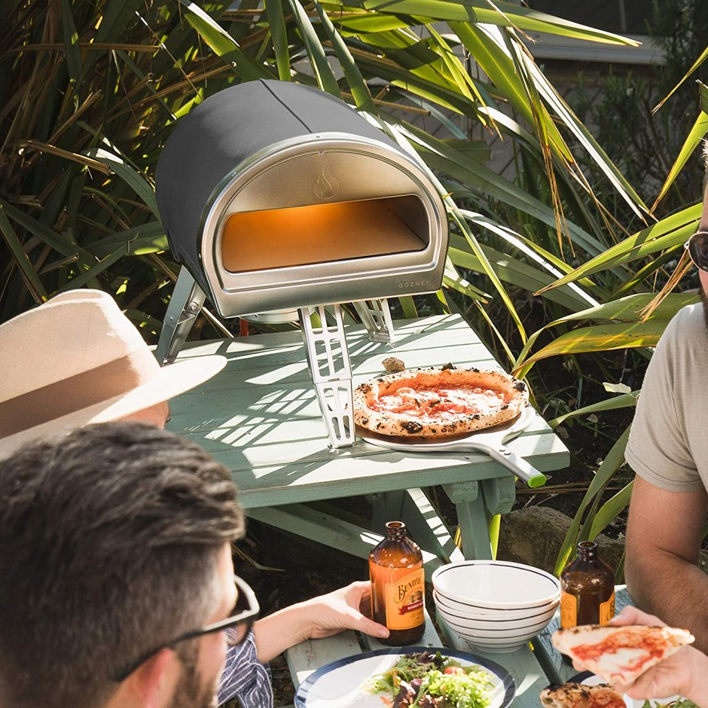 chic outdoor pizza oven