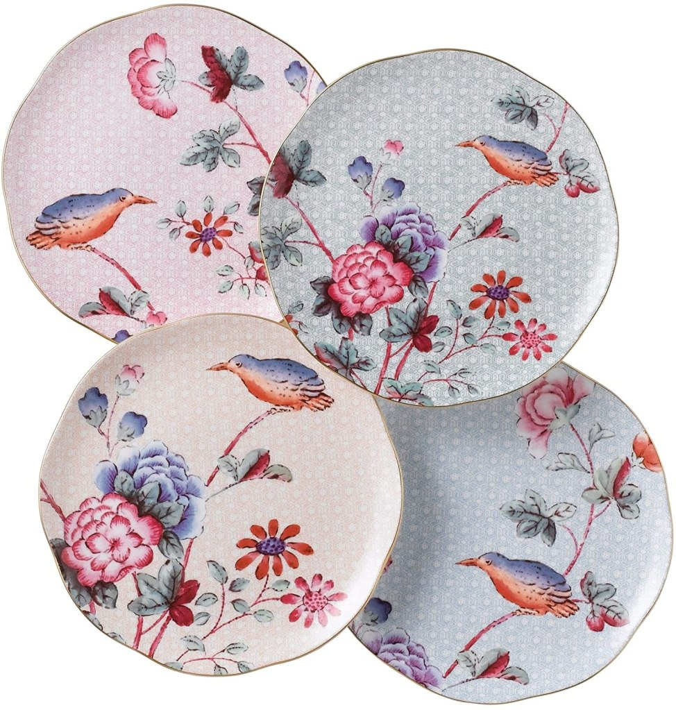 "Wedgwood Cuckoo 8.25"" 4-Piece Tea Plate Set, Set of 4, multi color"