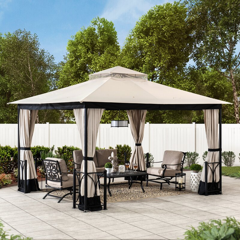 Belcourt 11 Ft. W x 13 Ft. D Steel Patio Gazebo