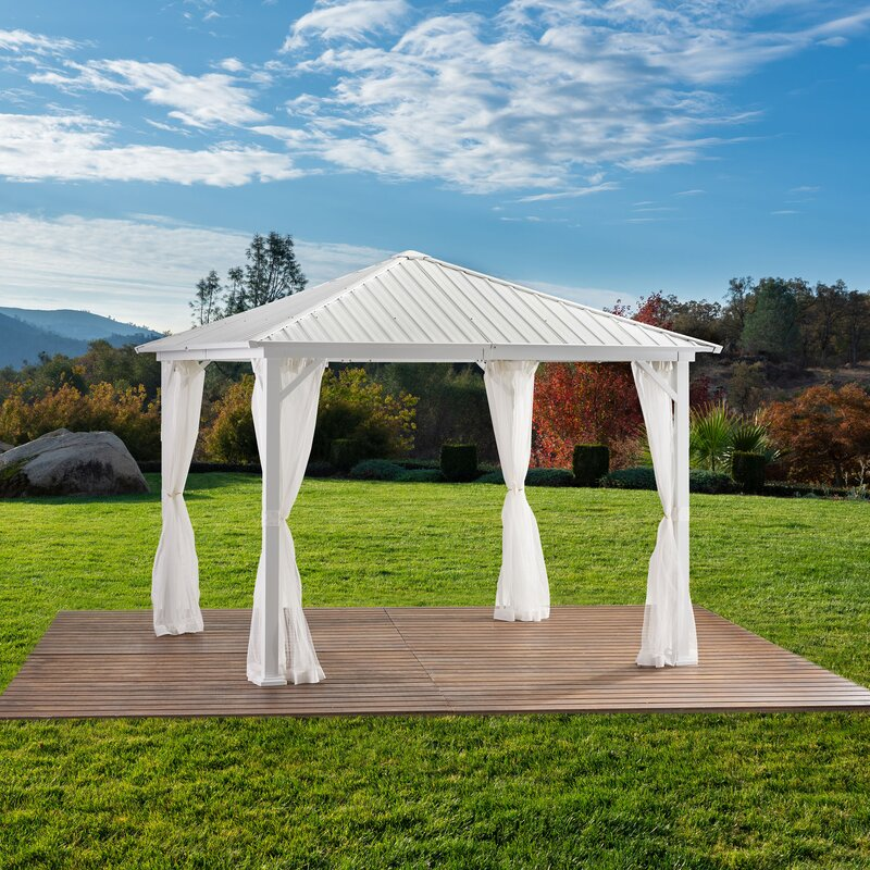Betty 9 Ft. W x 9 Ft. D Aluminum Patio Gazebo