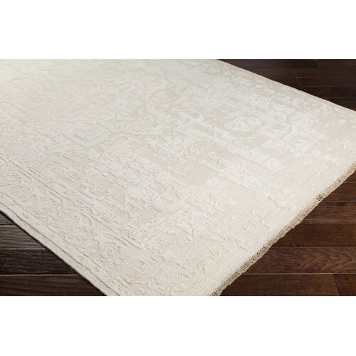 Courtney Hand Knotted Wool Cream Area Rug