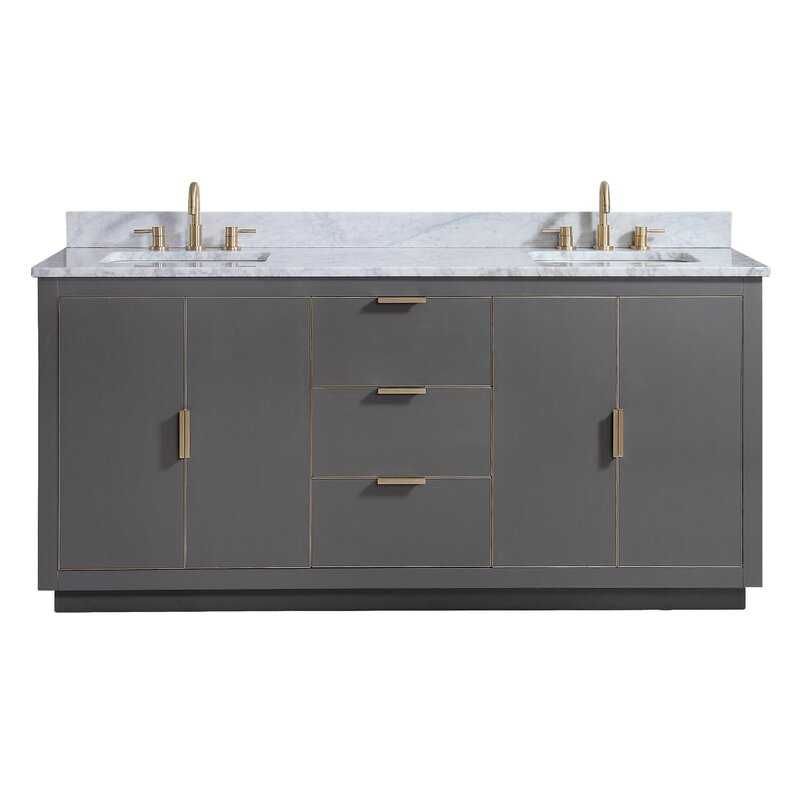 "Francine 73"" Double Bathroom Vanity Set"