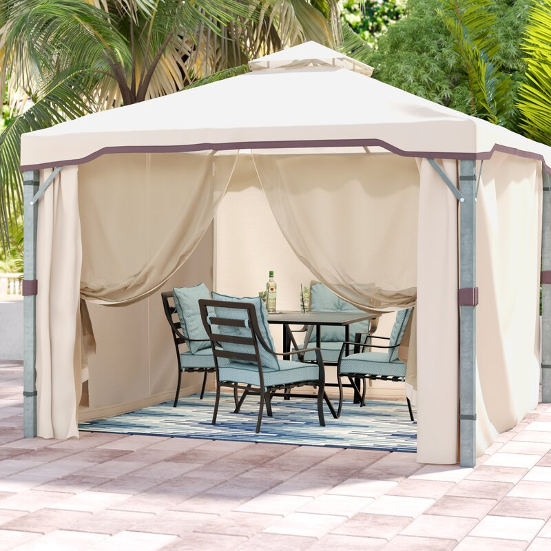 Franz 9.83 Ft. W x 9.83 Ft. D Metal Patio Gazebo