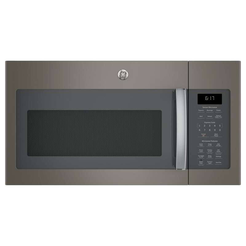 "GE Appliances 30"" 1.7 cu ft. 1000 - Watt Convertible Over-The-Range Microwave with Sensor Cooking"