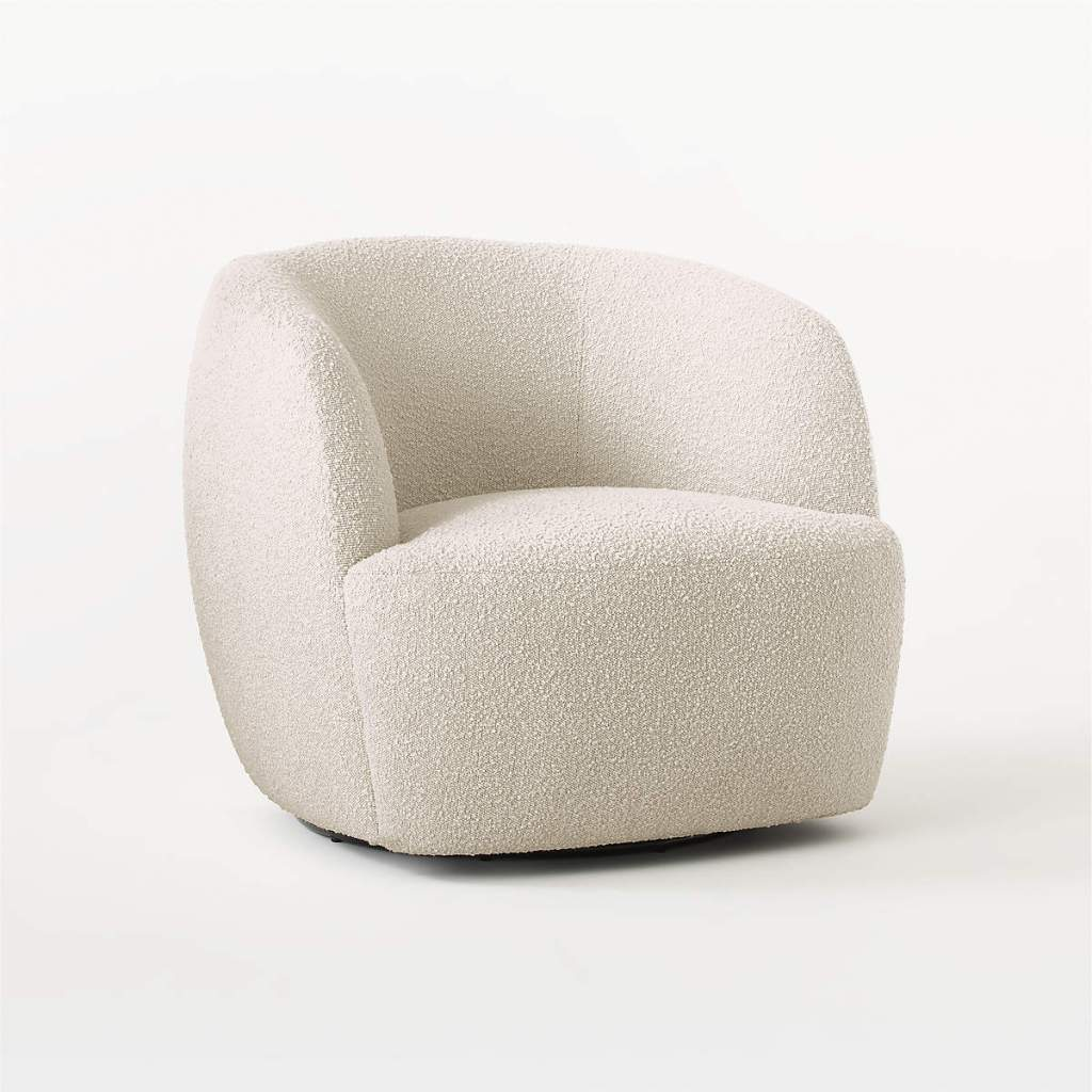 GWYNETH IVORY BOUCLE CHAIR