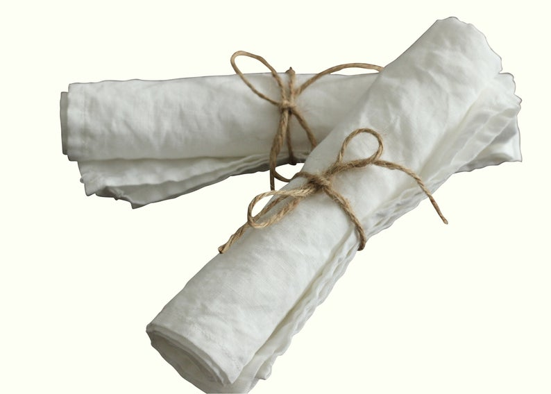 Set of French Linen Stonewashed Napkins