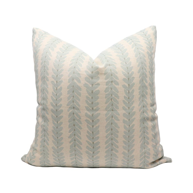 Schumacher Woodperry pillow cover in Blue WOOD001 // Designer pillow // High end pillow // Decorative pillow