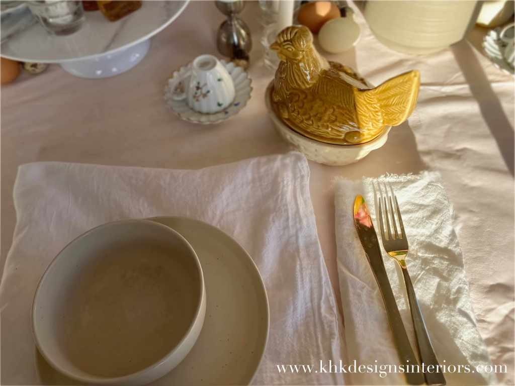 morning Easter tablescape