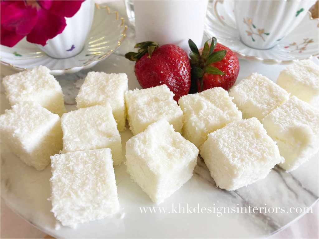 Easter tablescape-- keto coconut butter squares