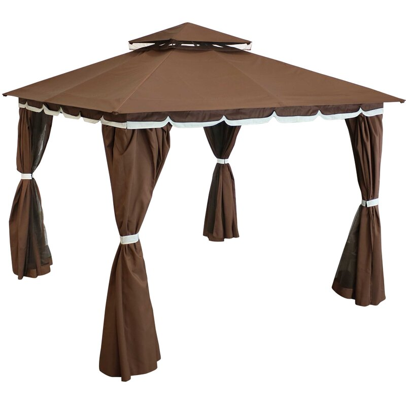 Jeffries 10 Ft. W x 10 Ft. D Steel Patio Gazebo