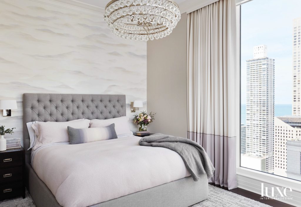 tone-on-tone bedroom with soft blush and lilac