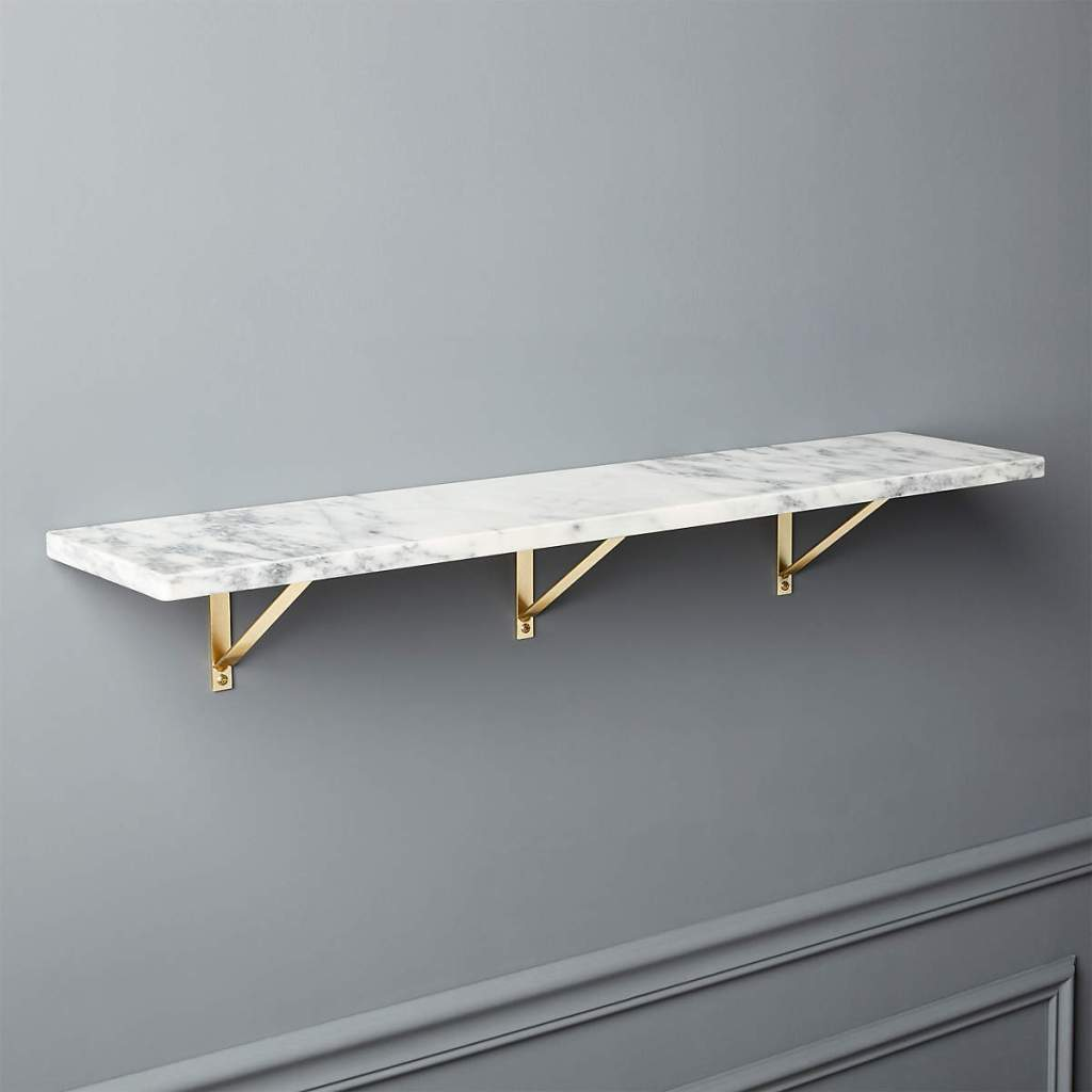 MARBLE WALL-MOUNTED SHELF 36""